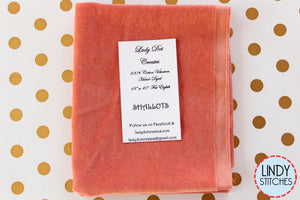 Shallots Pink Hand Dyed 100% Cotton Velveteen by Lady Dot Creates
