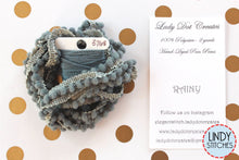 Load image into Gallery viewer, Rainy Mini Pom Pom Trim by Lady Dot Creates Hand Dyed 2 Yards