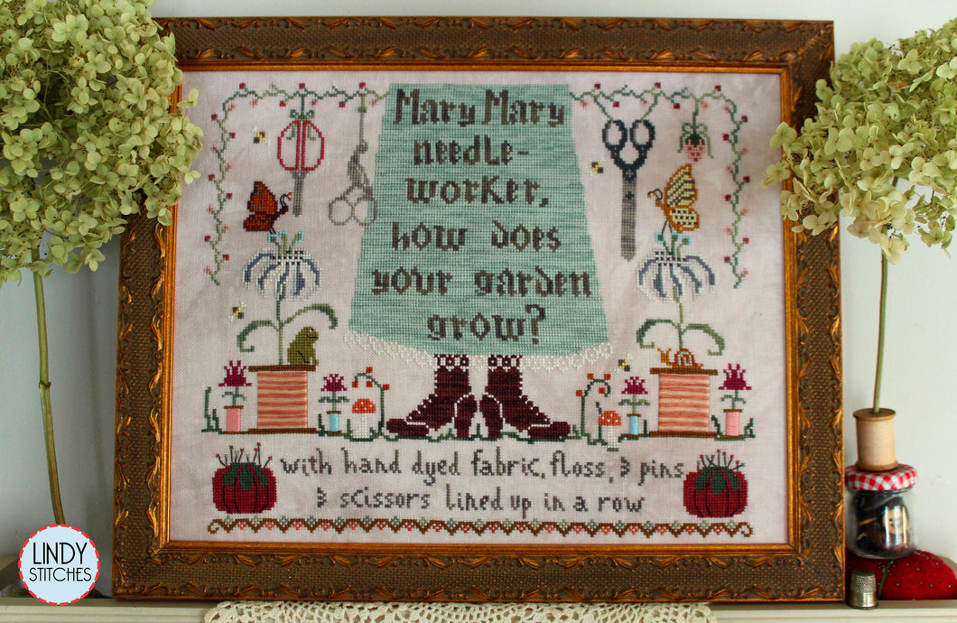 Mary Mary Needleworker Cross Stitch Pattern Lindy Stitches Nashville 2020 Physical Chart
