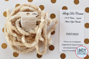 Vintage Chenille Trim Hand Dyed by Lady Dot Creates