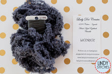 Load image into Gallery viewer, Licorice Eyelash Chenille Trim Hand Dyed by Lady Dot Creates