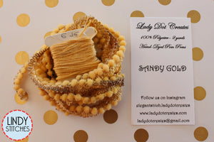 Sandy Gold Mini Pom Pom Trim by Lady Dot Creates