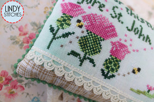 Cut Your Thistles Cross Stitch Pattern Lindy Stitches Physical Copy