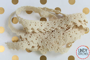 Nilla Lace Hand Dyed 100% Cotton Lace by Lady Dot Creates