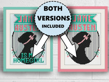 Load image into Gallery viewer, PDF Jane Austen is my Homegirl Cross Stitch Pattern by Lindy Stitches