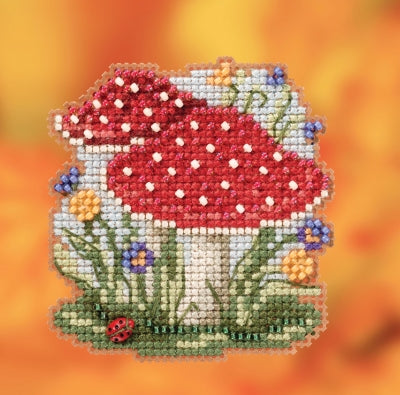 Red Cap Mushrooms Mill Hill Ornament Beads Kit
