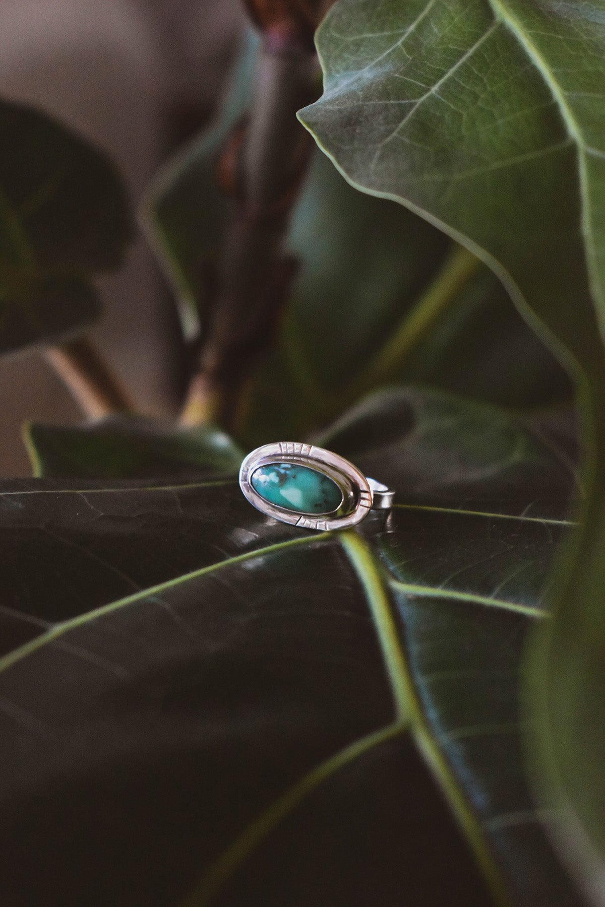 Stamped Horizon Ring • Size 6