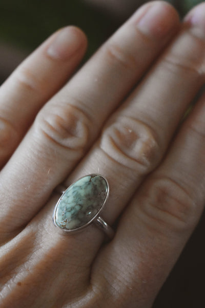 Mint Mosaic Ring • Size 9