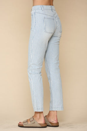 Pretty Pinstripe Denim Pants
