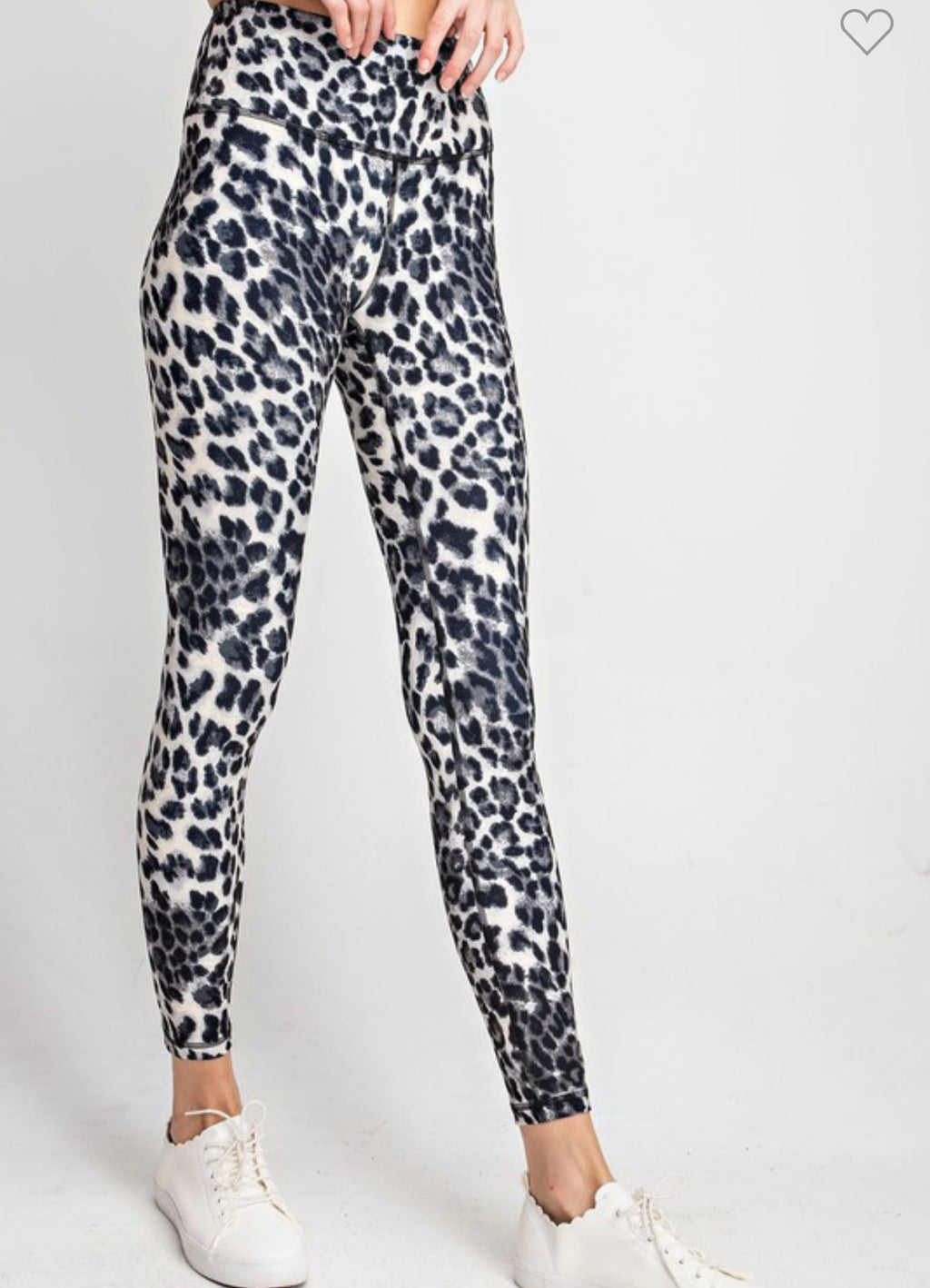 Light Grey Leopard Leggings