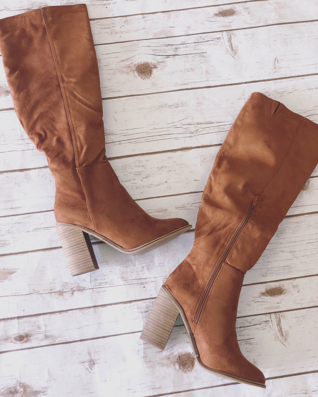 On My Own Knee High Boots - Caramel