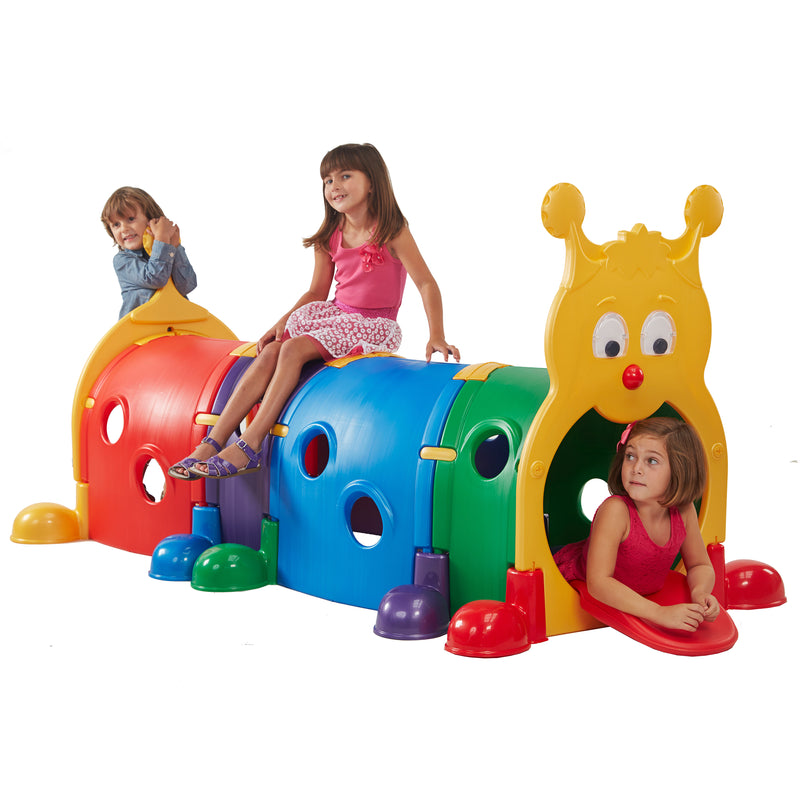 GUS Climb-N-Crawl Caterpillar Tunnel, Indoor/Outdoor Play Structure - Primary