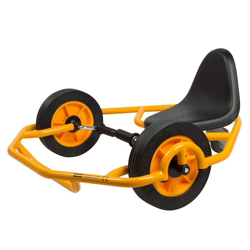 My First Hand Cart, RABO powered by ECR4Kids, Beginner Arm Powered Vehicle for Kids - Yellow/Black