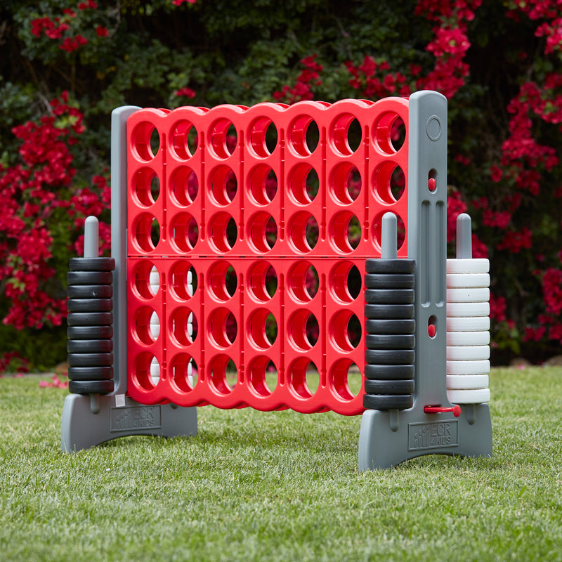 Jumbo 4-To-Score Giant Game, Indoor/Outdoor - Red and Grey