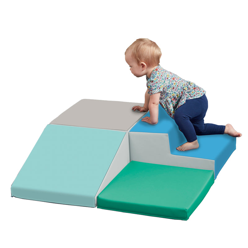 Junior Little Me Foam Corner Climber - Indoor Active Play Structure for Babies and Toddlers - Soft Foam Play Set