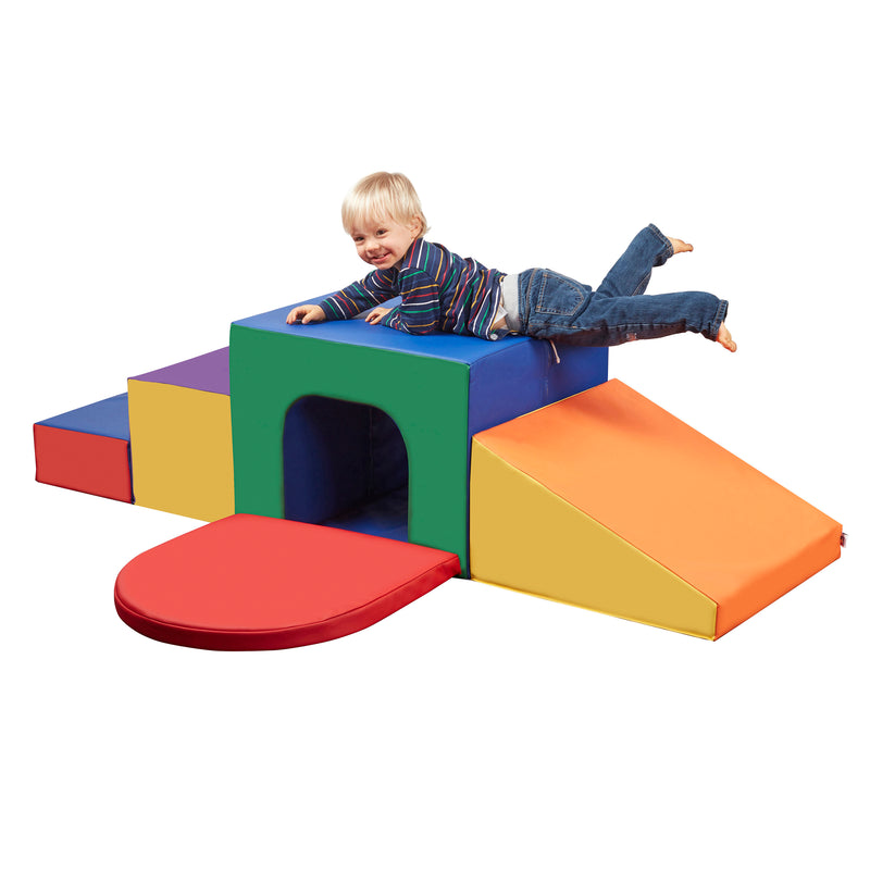 Single Tunnel Foam Maze, Beginner Toddler Climber for Safe Active Play