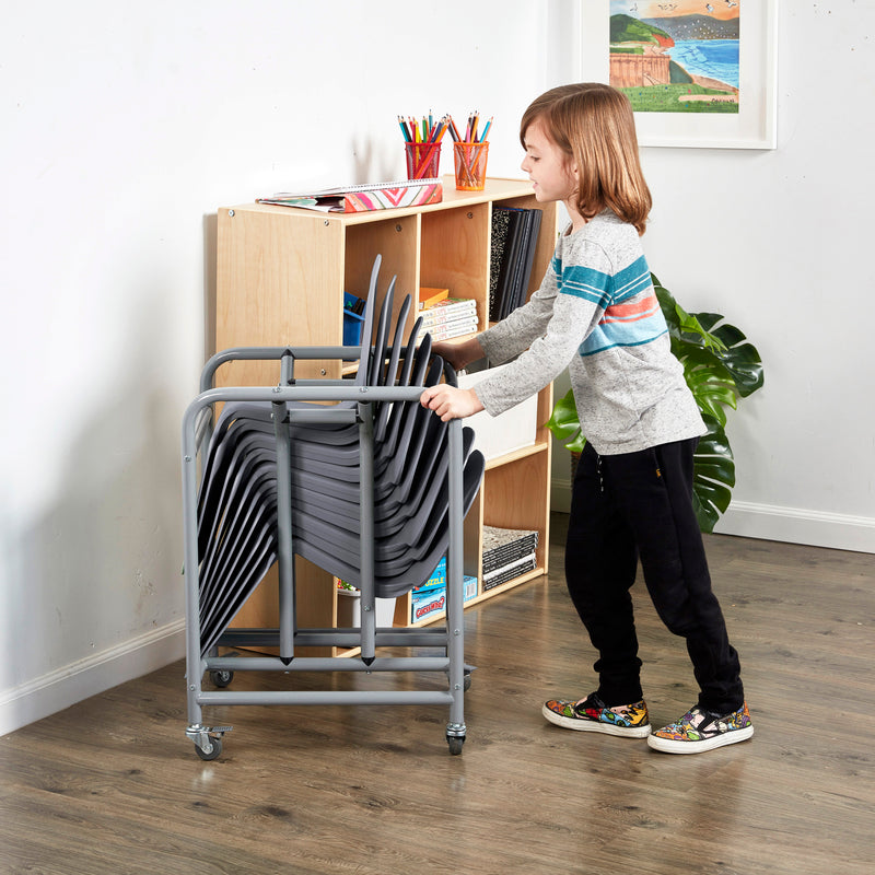 The Surf Storage Rack with 10 Surf Desks Package, Mobile Storage Cart for Portable Lap Desks, Flexible Seating for Classrooms