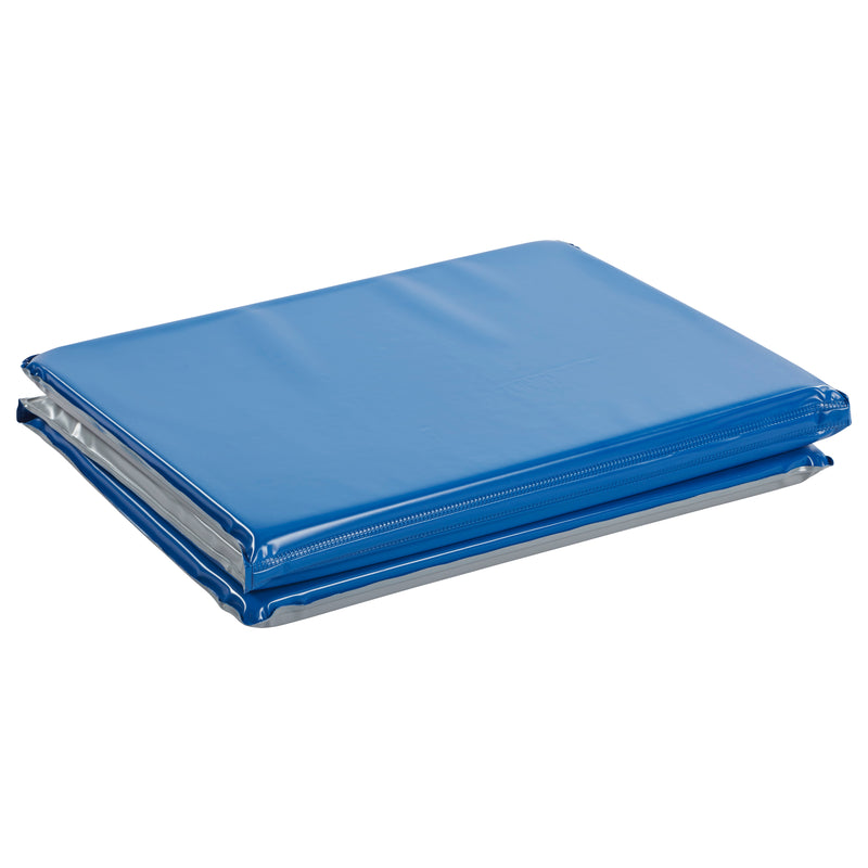 Everyday 3-Fold Rest Mat, 1in Thick, 5-Pack - Blue/Grey