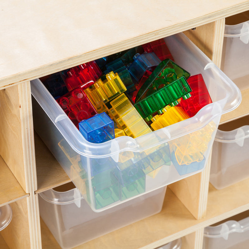 ECR4Kids 20 Cubby School Storage Cabinet - Rolling Cabinet with Tray Slots