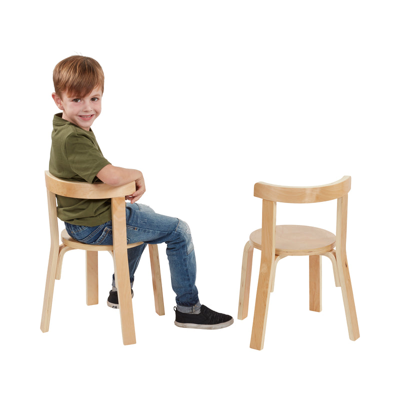 Bentwood Curved Back Table and Chair Set, Premium Kids Wooden Furniture for Homes, Daycares and Classrooms