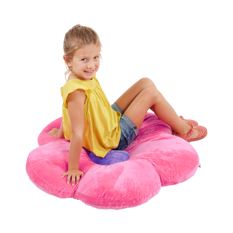 Flower Floor Pillow, Oversized Cushion for Kids' Bedrooms, Reading Nooks, Playrooms