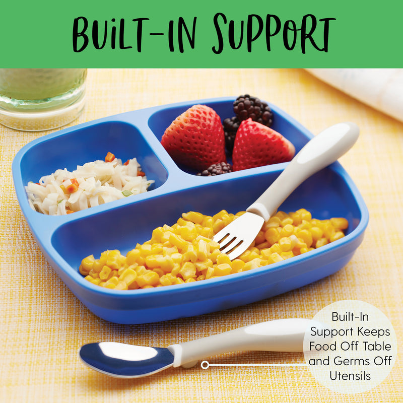 My First Meal Pal Toddler Forks, BPA-Free and Dishwasher Safe Utensils for Babies and Kids