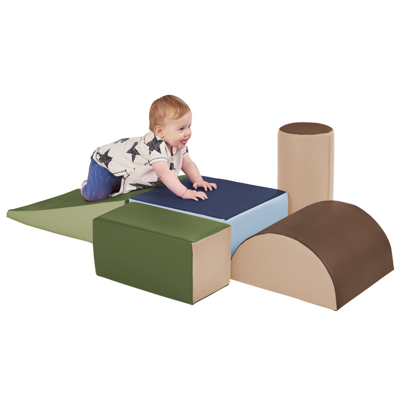 Climb and Crawl Foam Play Set for Toddlers (5-Piece)