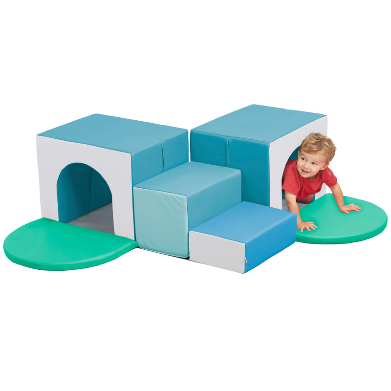 Corner Tunnel Maze Foam Climber, Indoor Active Play Structure for Babies and Toddlers