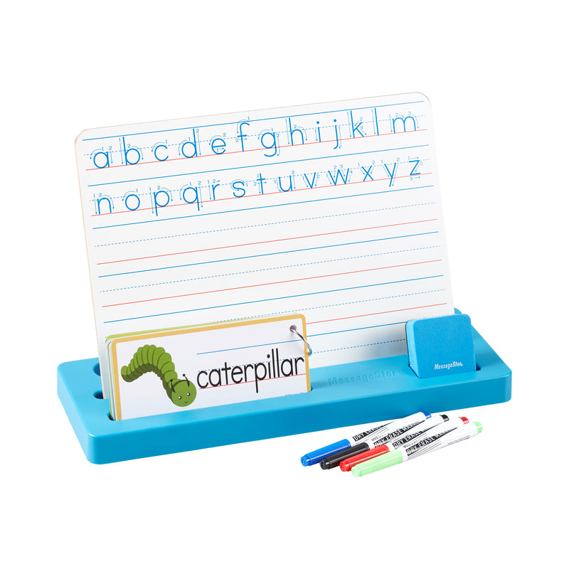 Printing Practice Station, Children's Learn to Write Dry-Erase Board and Flashcards