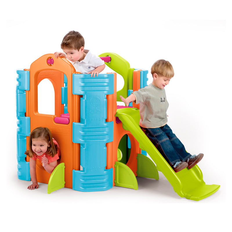 Activity Park Playhouse, Indoor/Outdoor Play House with Slide or Climb Stairs