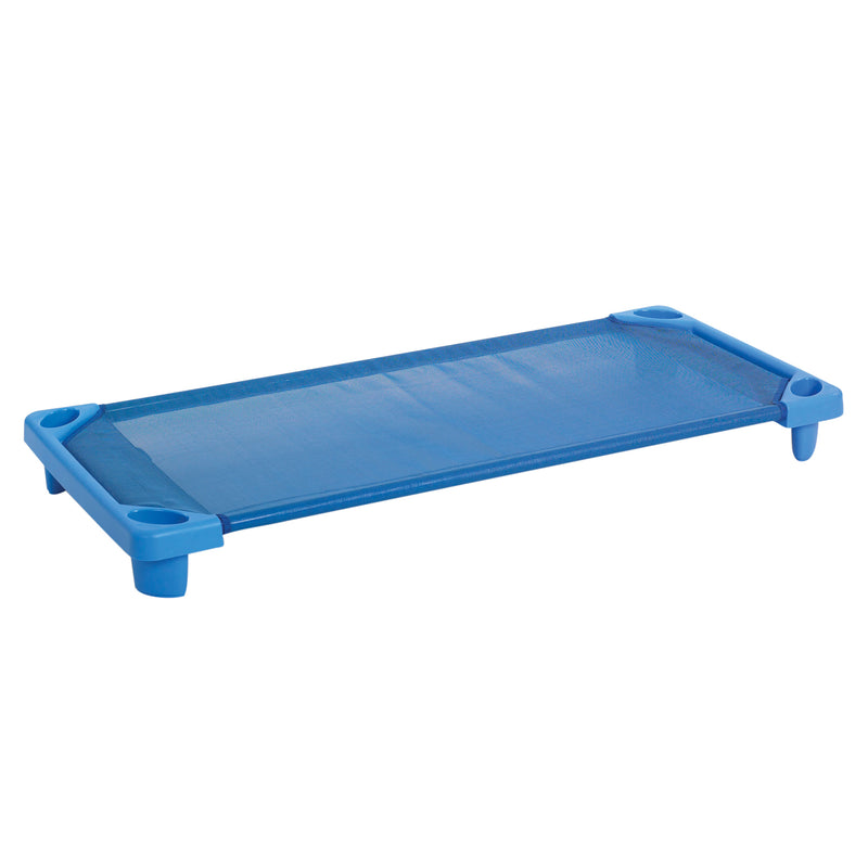 Streamline Children's Naptime Cot, Standard Size, Ready-to-Assemble, 6-Pack - Blue
