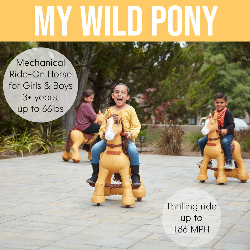 My Wild Pony, Ride-On 12V Motorized Horse for Kids