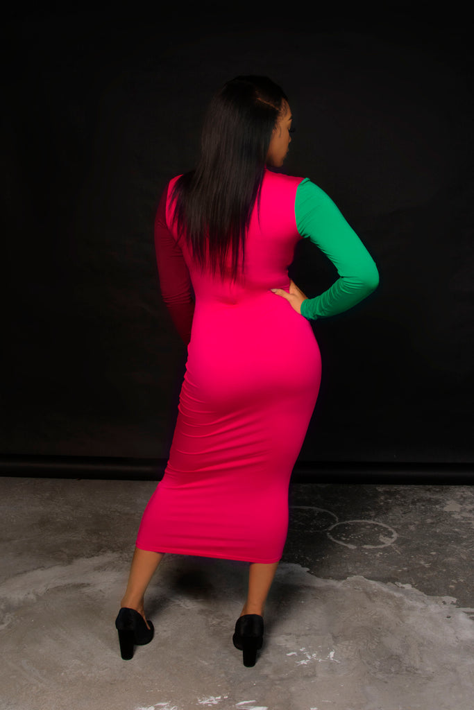 ON THE BRIGHT SIDE - Pink Bodycon Dress