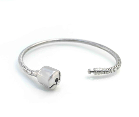 Durable 316L Surgical Steel Pandora Compatible Charm Bracelet