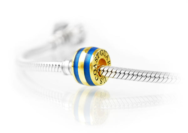 Coast Guard Charm, Elegant Vermeil Gold on Sterling Silver