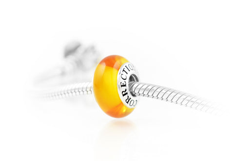 Corrections Solidarity® Charm, Exquisite Italian Glass and Sterling Silver