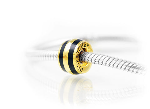 Dispatcher Charm, Elegant Vermeil Gold on Sterling Silver