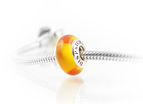 Dispatcher Solidarity® Charm, Exquisite Italian Glass and Sterling Silver