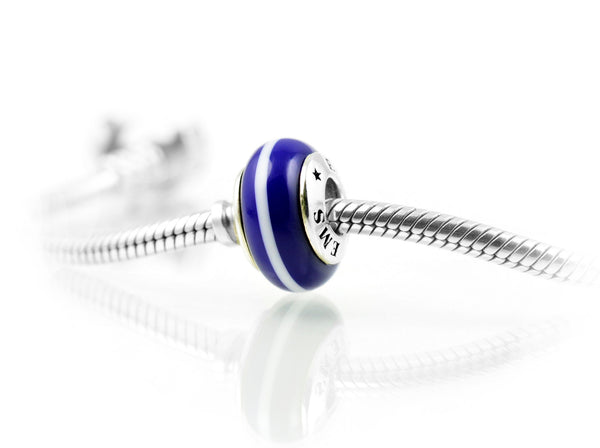 EMS Charm, Exquisite Italian Glass and Sterling Silver