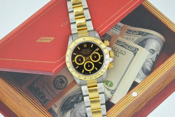 "1993 Rolex Oyster Perpetual Cosmograph ""Daytona"" Gold/Steel Inverted 6 Dial 16523"