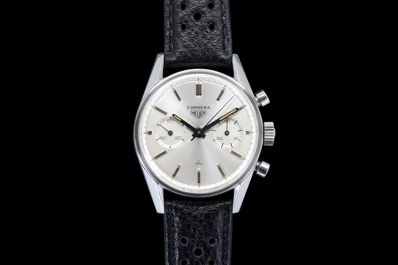 "1960s Heuer Carrera ""Black Hands"" 3647S"