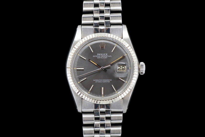1970 Rolex Datejust Grey Dial 1601