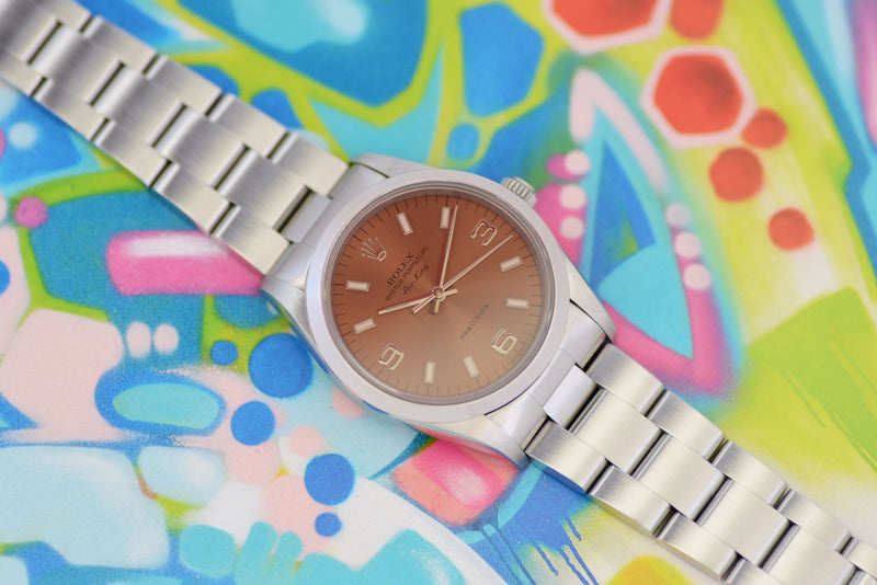 "NOS 1996 Rolex Oyster Perpetual Air-King Precision ""Rose"" 14000M"
