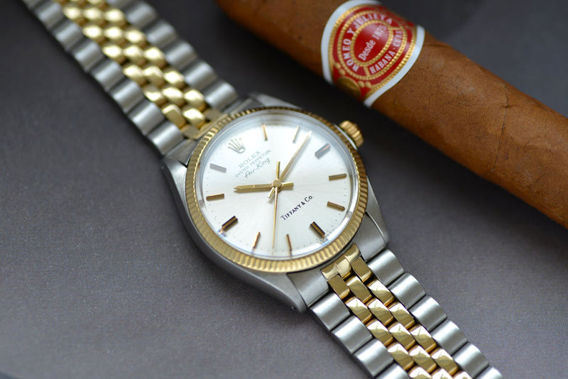 1970 Rolex Air-King Tiffany Gold/Steel 5501