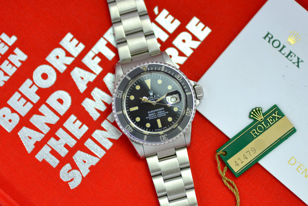 1976 Rolex Oyster Perpetual Submariner 1680 with box, service paper and tag