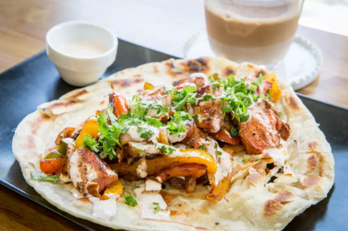 Tandoori Chicken Parotha Wrap -  - Elchi Chai Shop