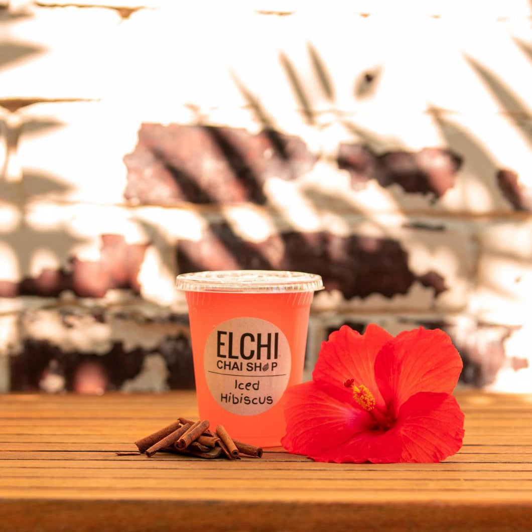Iced Hibiscus (dairy-free) -  - Elchi Chai Shop