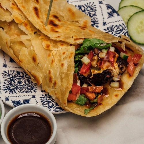 Kebab Ball Parotha Wrap -  - Elchi Chai Shop