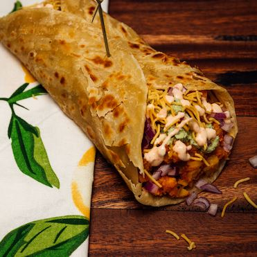 Potato Medley Parotha Wrap (Veg) - Elchi Chai Shop