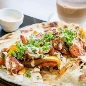 Tandoori Chicken Parotha Wrap - Elchi Chai Shop